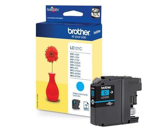 LC121C Inkjet cartridge do tiskárny DCP-J132W, MFC-J245, cyan, 300 stran, BROTHER