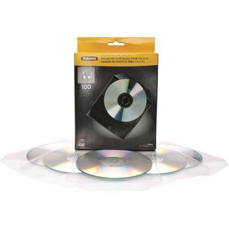 Plastové kapsy na CD, FELLOWES Počet kusů v balení: 100