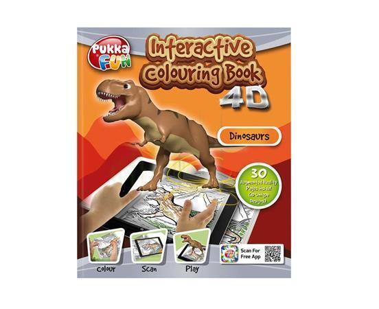 "Interaktivní omalovánky 4D ""Pukka Fun"", Dinosaurus, 218x260 mm, PUKKA FUN"