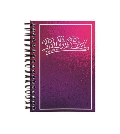 "Blok ""Bright"", A6, růžová-fialová, linkovaný, 100 listů, spirálová vazba, PUKKA PAD"