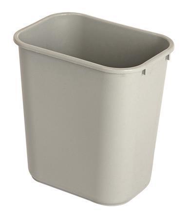 Odpadkový koš, šedá, 27 l, plast, VEPA BINS