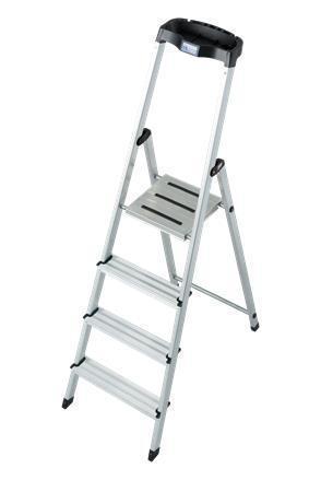 "Schůdky, 4 schody, hliníkové, KRAUSE ""Safety"""