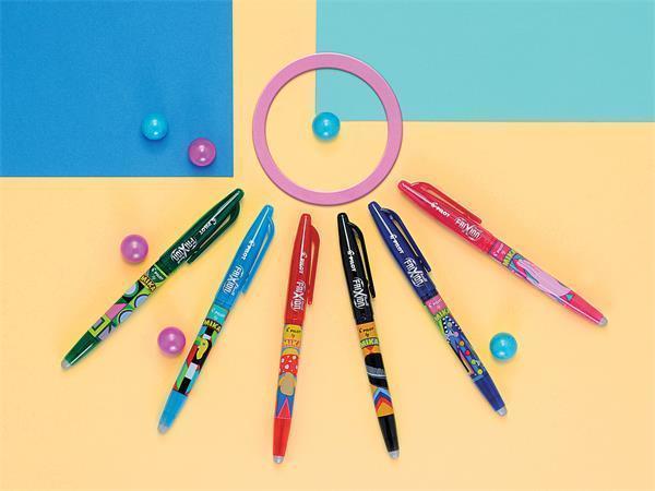 """Roller """"Frixion Ball - Mika Limited Edition"""", černá, 0,7/0,35mm, vymazatelný, PILOT"""