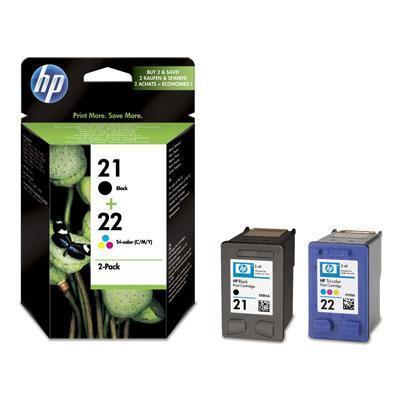 """Inkjet cart.pro multipack """"DeskJet 3920"""" tiskárnu, HP """"Nr.21/22"""" Černá, Barevná, 190+165 stran"""