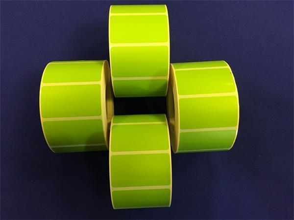Label, thermo, 25×45 mm, 1000 label/roll, green