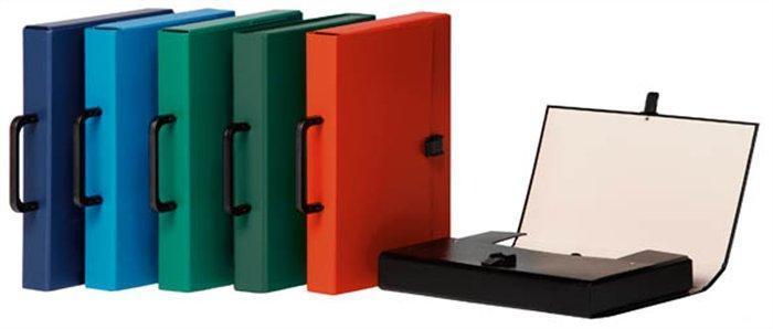 Aktovka na dokumenty, s držadlem, černá, A4, PP/karton, DONAU