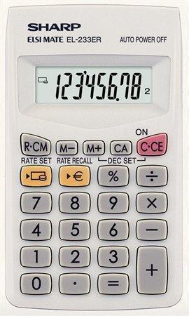 """Kalkulačka kapesní """"EL-233ER"""", 8místný displej, SHARP"""