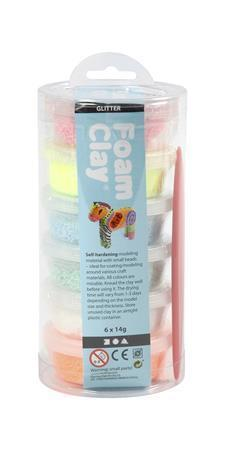"""Clay set, CREOTIME """"Foam Clay"""", 6 assorted colors"""
