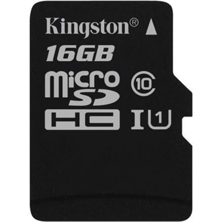 "Paměťová karta microSDHC ""Canvas Select"", 16GB, Class 10/U1, 80/10 MB/s, KINGSTON"