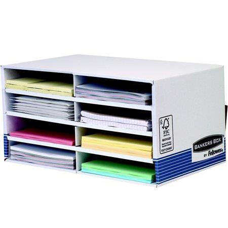 "Stolový organizér ""BANKERS BOX® SYSTEM by FELLOWES®"", modrá, karton, FELLOWES"