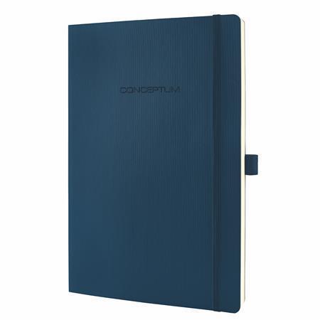 """Exkluzivní zápisník """"Conceptum"""", noční modrá, A4, čtverečkovaný, 194 listů, SIGEL"""