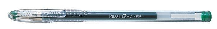"""Gelové pero """"G-1"""", zelená, 0,32 mm, s uzávěrem, PILOT"""