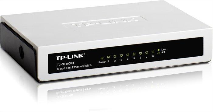 "Switch ""TL-SF1008D"", 8 portů, TP-LINK"