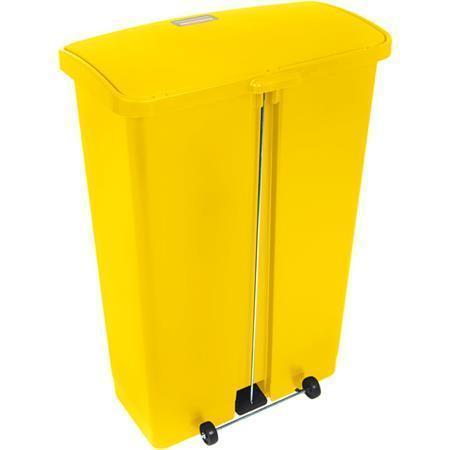 Nášlapný odpadkový koš, žlutá, 87 l, plast, RUBBERMAID