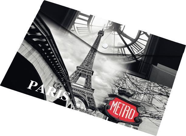 "Desky na dokumenty ""Paris"", s drukem, A5, PP, 160 micron, PANTA PLAST"