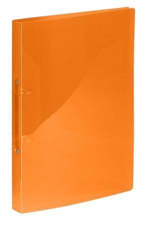 """Pořadač dvoukroužkový """"Propyglass"""", oranžová, 25 mm, A4, PP, VIQUEL"""