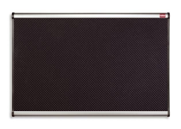 Černá pěnová tabule, hliníkový/plastový rám, 90x120, NOBO