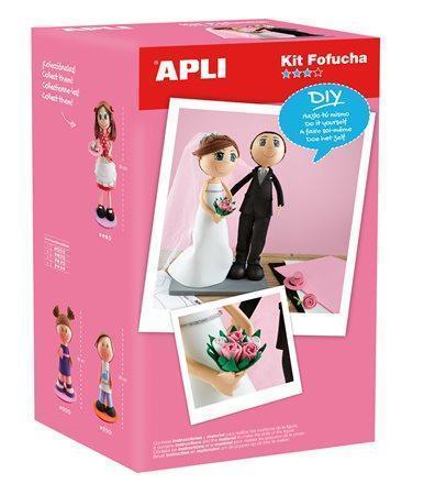 """Kreativní sada """"Nevěsta a ženich"""", pěnová guma, APLI Počet kusů v balení: 1"""