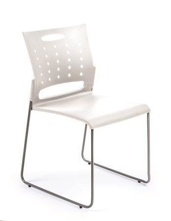"""Konferenční židle """"Simply"""", bílá, plastový sedák a opěrka, kovový rám, MaYAH Počet kusů v balení: 4"""