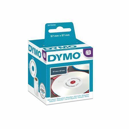 Štítky pro LW štítkovač, na CD a DVD, průměr 57 mm, 160 ks, DYMO