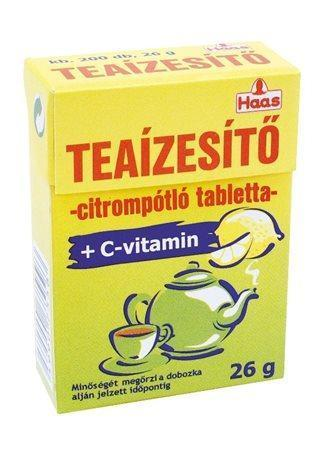 Tablety do čaje, s aroma citronu, 20g, HAAS