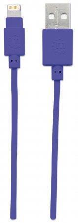 "USB kabel ""iLynk"", lightning, 1 m, fialová, MANHATTAN"