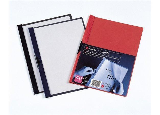 Desky s klipem, tmavě modrá, PP, A4, REXEL