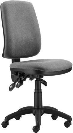 "Office chair, fabric, black base, ""1640 ASYN"", grey"