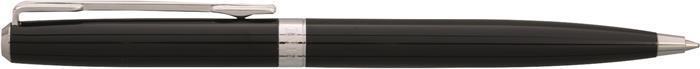 """Kuličkové pero """"Octo"""", modrá, rotační, černé tělo, chromovaný klip, ENZO VARINI"""