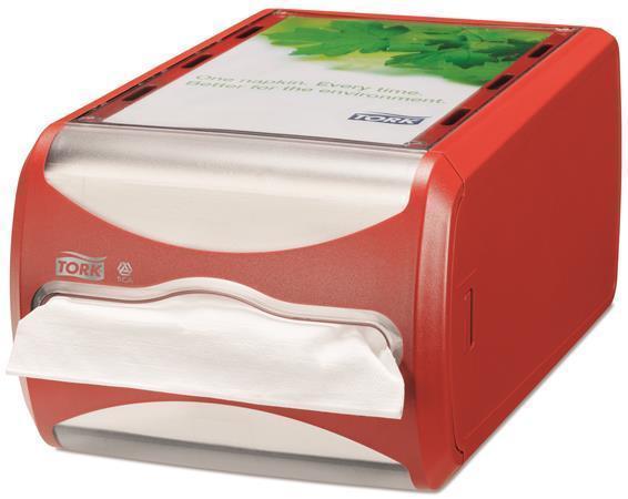 """Zásobník na ubrousky """"Xpressnap"""", červená, N4 systém, 14,5x19,1x30,7 mm, TORK"""