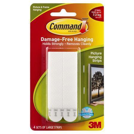 """Samolepící pásky na zavěšení rámu """"Command"""", se suchými zipy, větší, 3M SCOTCH"""