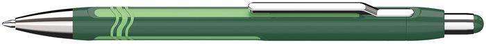 """Kuličkové pero """"Epsilon"""", tmavě a světle zelené, 0,7mm, stiskací mechanismus, SCHNEIDER"""