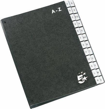 Třídící kniha, černá, A4, A-Z, karton, 5 STAR