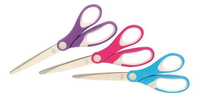 """Nůžky """"JOY"""", růžová, univerzální, 182 mm, REXEL"""