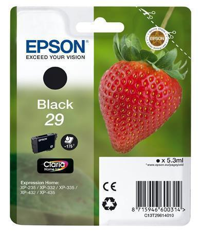 C13T29814010 Incjet Cartridge for XP235/332 printers, EPSON black, 5,3ml