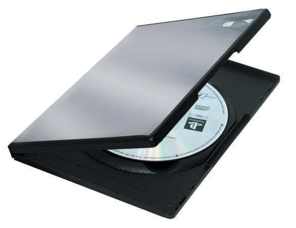 DVD-box, standard,na 1ks, FELLOWES, černý, 5ks/bal.