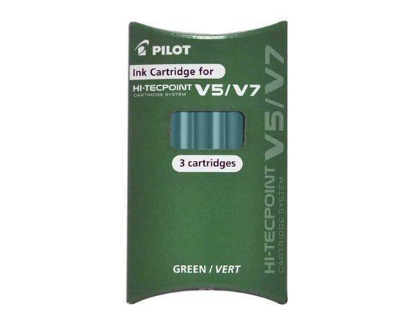 """Náplň do rolleru """"V5/ V7"""", zelená, PILOT"""