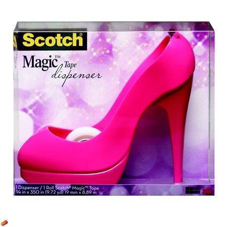"""Odvíječ na lepící pásku, s páskou, růžová, 3M SCOTCH """"Stiletto"""""""