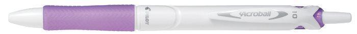 "Kuličkové pero ""Acroball Pure White"", purpurová, 0,32 mm, stiskací mechanismus, PILOT"