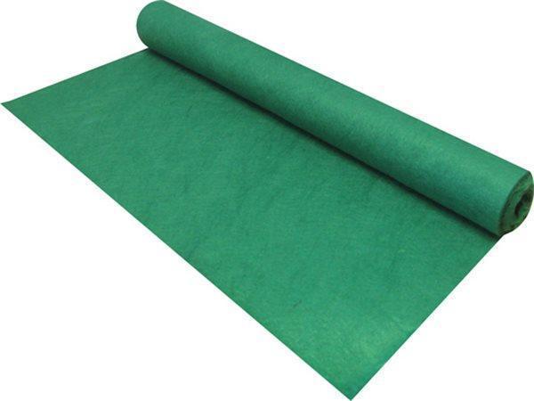 Plst, zelená, měkká, role