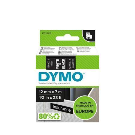 "Páska, 12 mm x 7 m, DYMO ""D1"", černá-bílá"