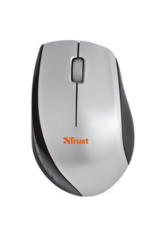 """Myš """"Isotto"""", černostříbrná, bezdrátová, optická, USB, mini, TRUST"""