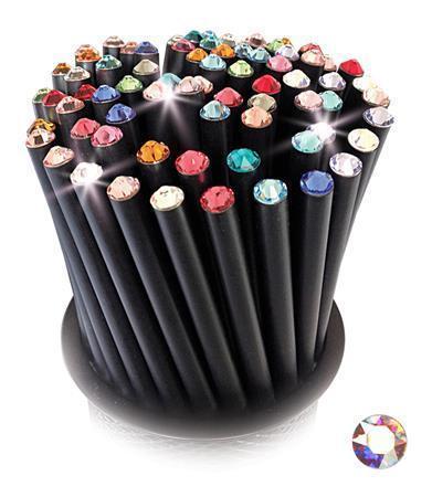 Grafitová tužka, SWAROVSKI® Crystals, opál, 17cm, černá Počet kusů v balení: 5