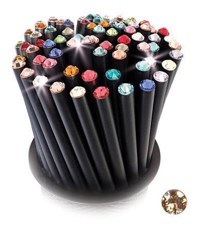 Grafitová tužka, SWAROVSKI® Crystals, champagne, 17cm, černá Počet kusů v balení: 5