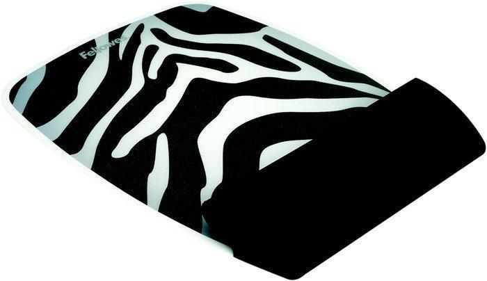 Opěrka zápěstí, vzor zebra, silikon, FELLOWES