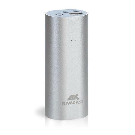 """Přenosná baterie """"VA1005"""", stříbrná, vsutp lightning a microUSB, 5000mAh, RIVACASE"""