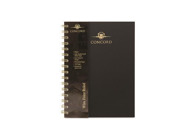 """Kroužkový blok """"Noir"""", A5, linkovaný, 80 listů, CONCORD"""