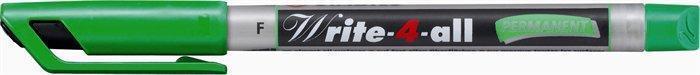 """Permanentní popisovač """"Write-4-all"""", zelená, 0,7mm, kuželový hrot, STABILO"""