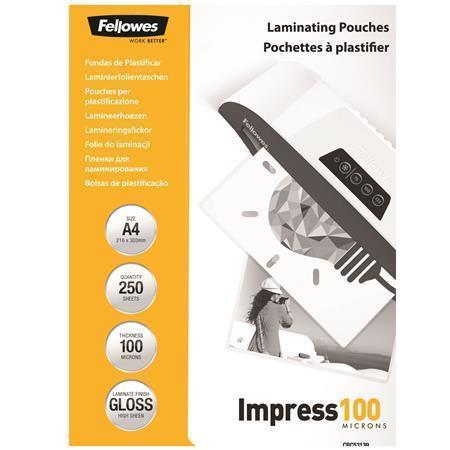 Laminovací fólie, lesklá, 100 micron, A4, FELLOWES