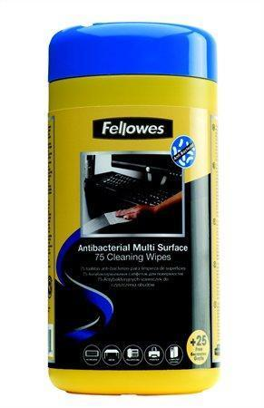"Čistící ubrousky, FELLOWES ""Virashield Multi Surface Cleaning Wipes"", 75ks/bal."